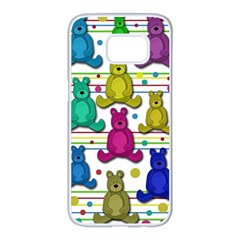 Teddy bear Samsung Galaxy S7 edge White Seamless Case