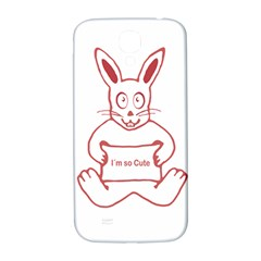 Cute Rabbit With I M So Cute Text Banner Samsung Galaxy S4 I9500/i9505  Hardshell Back Case