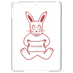 Cute Rabbit With I M So Cute Text Banner Apple Ipad Pro 9 7   Hardshell Case