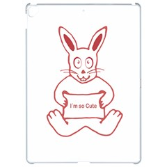 Cute Rabbit With I M So Cute Text Banner Apple iPad Pro 12.9   Hardshell Case