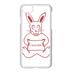 Cute Rabbit With I M So Cute Text Banner Apple Iphone 7 Seamless Case (white)