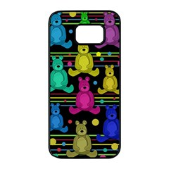 Teddy bear 2 Samsung Galaxy S7 edge Black Seamless Case