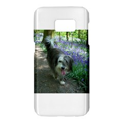 Bearded Collie Walking Samsung Galaxy S7 Hardshell Case