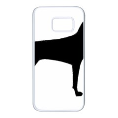Vizsla Silo Black Samsung Galaxy S7 White Seamless Case