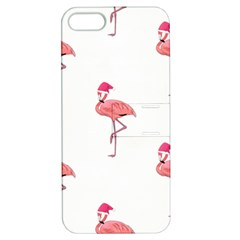 Flamingos Pink Santa Claus Tropical Coastal Christmas Apple Iphone 5 Hardshell Case With Stand