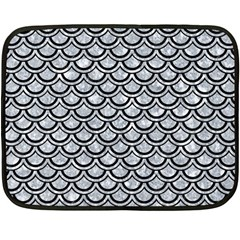 Scales2 Black Marble & Gray Marble (r) Double Sided Fleece Blanket (mini)
