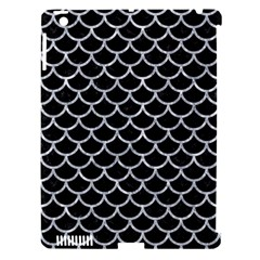 Scales1 Black Marble & Gray Marble Apple Ipad 3/4 Hardshell Case (compatible With Smart Cover)