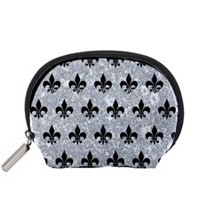 Royal1 Black Marble & Gray Marble Accessory Pouch (small)