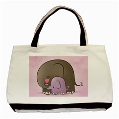 Cute Elephant Basic Tote Bag (two Sides)