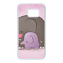 Cute Elephant Samsung Galaxy S7 White Seamless Case