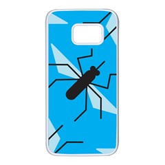 Mosquito Blue Black Samsung Galaxy S7 White Seamless Case