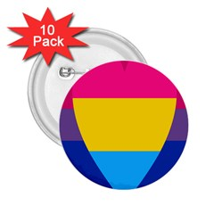 Panromantic Flags Love 2.25  Buttons (10 pack)
