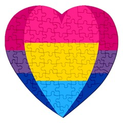 Panromantic Flags Love Jigsaw Puzzle (Heart)