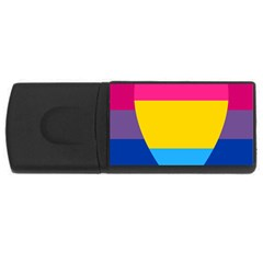Panromantic Flags Love USB Flash Drive Rectangular (4 GB)