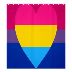 Panromantic Flags Love Shower Curtain 66  x 72  (Large)