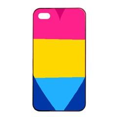 Panromantic Flags Love Apple iPhone 4/4s Seamless Case (Black)