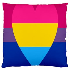 Panromantic Flags Love Large Cushion Case (Two Sides)
