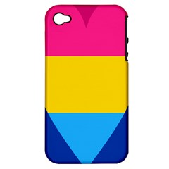 Panromantic Flags Love Apple iPhone 4/4S Hardshell Case (PC+Silicone)