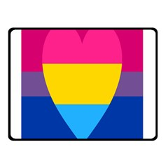 Panromantic Flags Love Double Sided Fleece Blanket (Small)