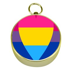 Panromantic Flags Love Gold Compasses