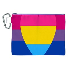 Panromantic Flags Love Canvas Cosmetic Bag (XXL)