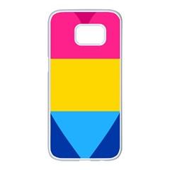 Panromantic Flags Love Samsung Galaxy S7 Edge White Seamless Case