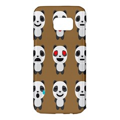 Panda Emoticon Samsung Galaxy S7 Edge Hardshell Case
