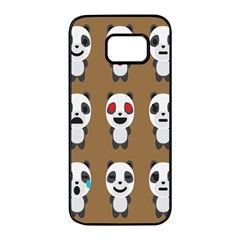 Panda Emoticon Samsung Galaxy S7 Edge Black Seamless Case