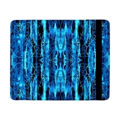 Bright Blue Turquoise  Black Pattern Samsung Galaxy Tab Pro 8.4  Flip Case