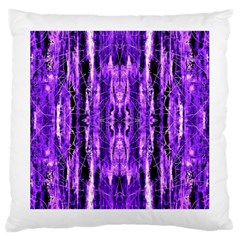 Bright Purple Rose Black Pattern Large Cushion Case (Two Sides)