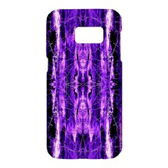 Bright Purple Rose Black Pattern Samsung Galaxy S7 Hardshell Case