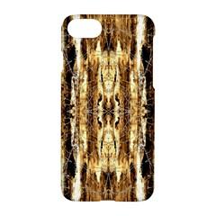 Beige Brown Back Wood Design Apple Iphone 7 Hardshell Case