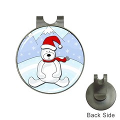 Polar Bear Hat Clips With Golf Markers