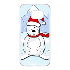 Polar bear Samsung Galaxy S7 edge White Seamless Case