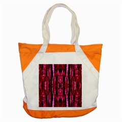 Pink Burgundy Traditional Pattern Accent Tote Bag