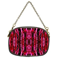Pink Burgundy Traditional Pattern Chain Purses (Two Sides)