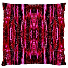 Pink Burgundy Traditional Pattern Large Cushion Case (Two Sides)