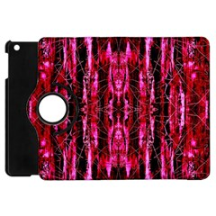 Pink Burgundy Traditional Pattern Apple iPad Mini Flip 360 Case
