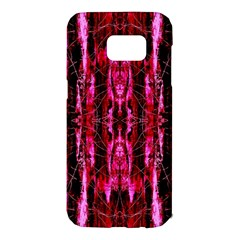 Pink Burgundy Traditional Pattern Samsung Galaxy S7 Edge Hardshell Case