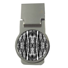 Black White Taditional Pattern  Money Clips (Round)