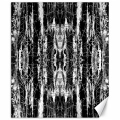 Black White Taditional Pattern  Canvas 20  x 24