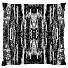 Black White Taditional Pattern  Large Cushion Case (Two Sides)