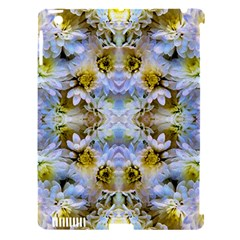 Blue Yellow Flower Girly Pattern, Apple Ipad 3/4 Hardshell Case (compatible With Smart Cover)