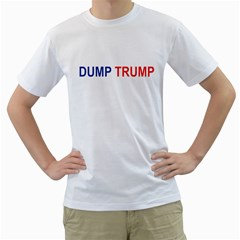 Dump Trump Men s T Shirt (white)