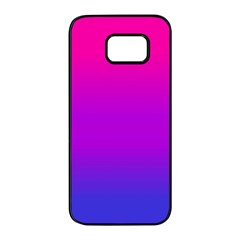 Pink Purple Blue Samsung Galaxy S7 Edge Black Seamless Case