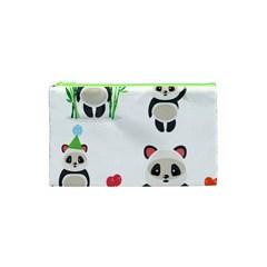 Panda Cute Animals Cosmetic Bag (xs)
