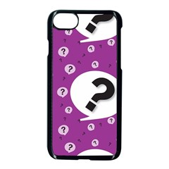 Question Mark Sign Apple iPhone 7 Seamless Case (Black)