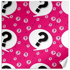 Question Mark Red Sign Canvas 20  X 20
