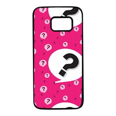 Question Mark Red Sign Samsung Galaxy S7 Black Seamless Case