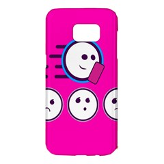 Run Face Pink Samsung Galaxy S7 Edge Hardshell Case